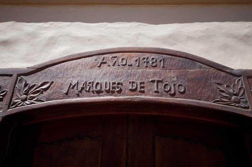 Entrada del Hotel Marqués de Tojo en Jujuy, Argentina